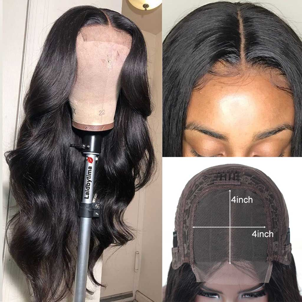 10a Body Wave Lace Closure Wig Best Human Virgin Hair Lace Wigs Ulit