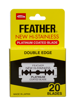 Load image into Gallery viewer, FEATHER Hi Stainless Double Edge Razor Blades 20 Pack