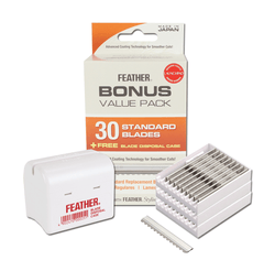 Jatai Feather Styling Razor Blades | 30 + BONUS Blade Bank