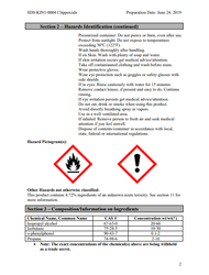 MSDS SHEETS for Clippercide Disinfectant