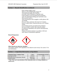 MSDS SHEETS for Barbicide Disinfectant Concentrate Liquid