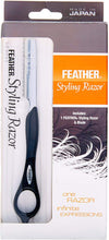 Load image into Gallery viewer, Jatai Feather Styling Razor in Black