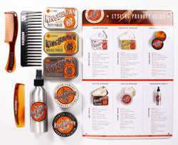 King Brown Tin Styling Product Guide