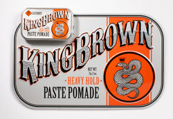 King Brown Paste Pomade Tin Sign