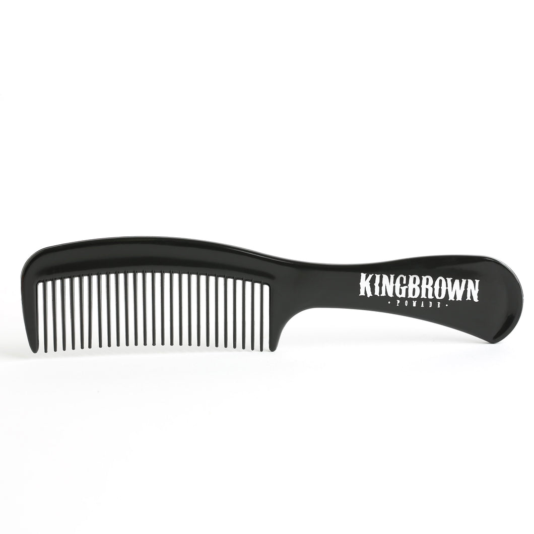 King Brown Pomade Handle Comb in Black