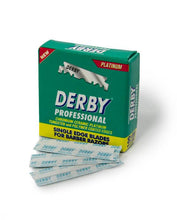 Load image into Gallery viewer, Derby Professional Single Edge Razor Blade (100 Blades/Pack)