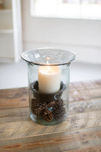 Glass Candle Cylinder - Small