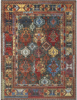 Rug Star New Tribal Soul on Dark Green