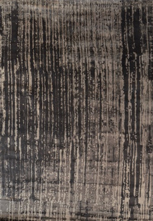 Charcoal And Silver Modern Rug, Aspen Tree pattern