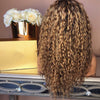 Brown wave curl long