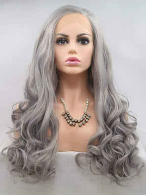 Gray Wigs Hair 100 Human Hair White Human WigsGray Lace Wig