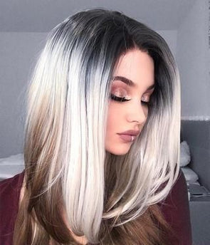 Gray Wigs Hair African American Gray Hair PiecesSilver Grey Hair