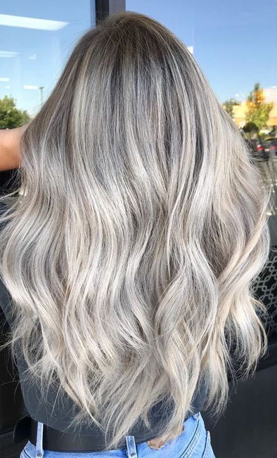 Gray Wigs Lace Frontal Wigs Gray Toner On Orange HairPlatinum Grey Hair