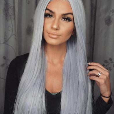 Gray Lace Frontal Wigs Wigs For White Ladies