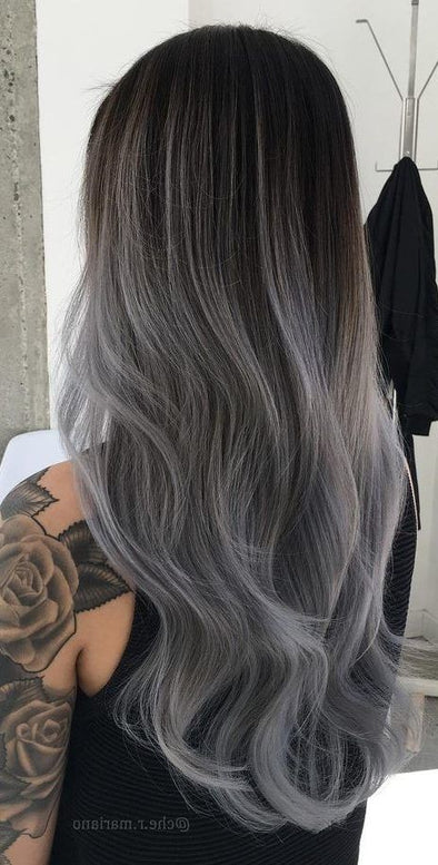 Gray Lace Frontal Wigs Wow Powder For Grey Hair