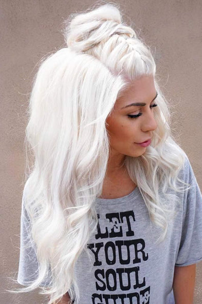 Gray Lace Frontal Wigs Wigs With Gray Highlights