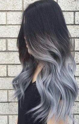 Gray Wigs Lace Frontal Wigs Gray TonerGrey Purple Hair