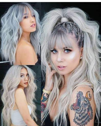 Gray Lace Frontal Wigs Wigs For White Women Over 50