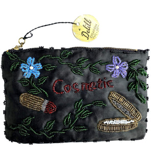 kristina iulo | a private vintage collection Accessories Vintage 1950 Delill Creation Beaded Embroidered Cosmetics Purse
