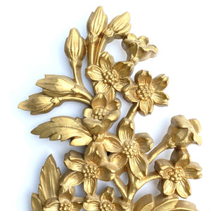 kristina iulo | a private vintage collection Decorative Objects Vintage 1960s Gold Bird Floral Branch Wall Decor Dart Industries Trio