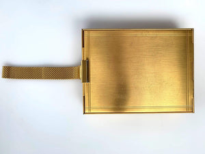 kristina iulo vintage collections Accessories Vintage 1930s Double Sided Minaudière Compartment Gold Metal Purse