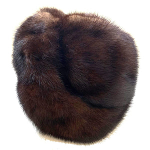 kristina iulo vintage collections Accessories Vintage 1950s Warm Brown Mink Halo Hat by Holenstein St. Gall