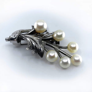 kristina iulo vintage collections Jewelry Vintage Sterling Silver Pearl Flower Bouquet Pin Barrette