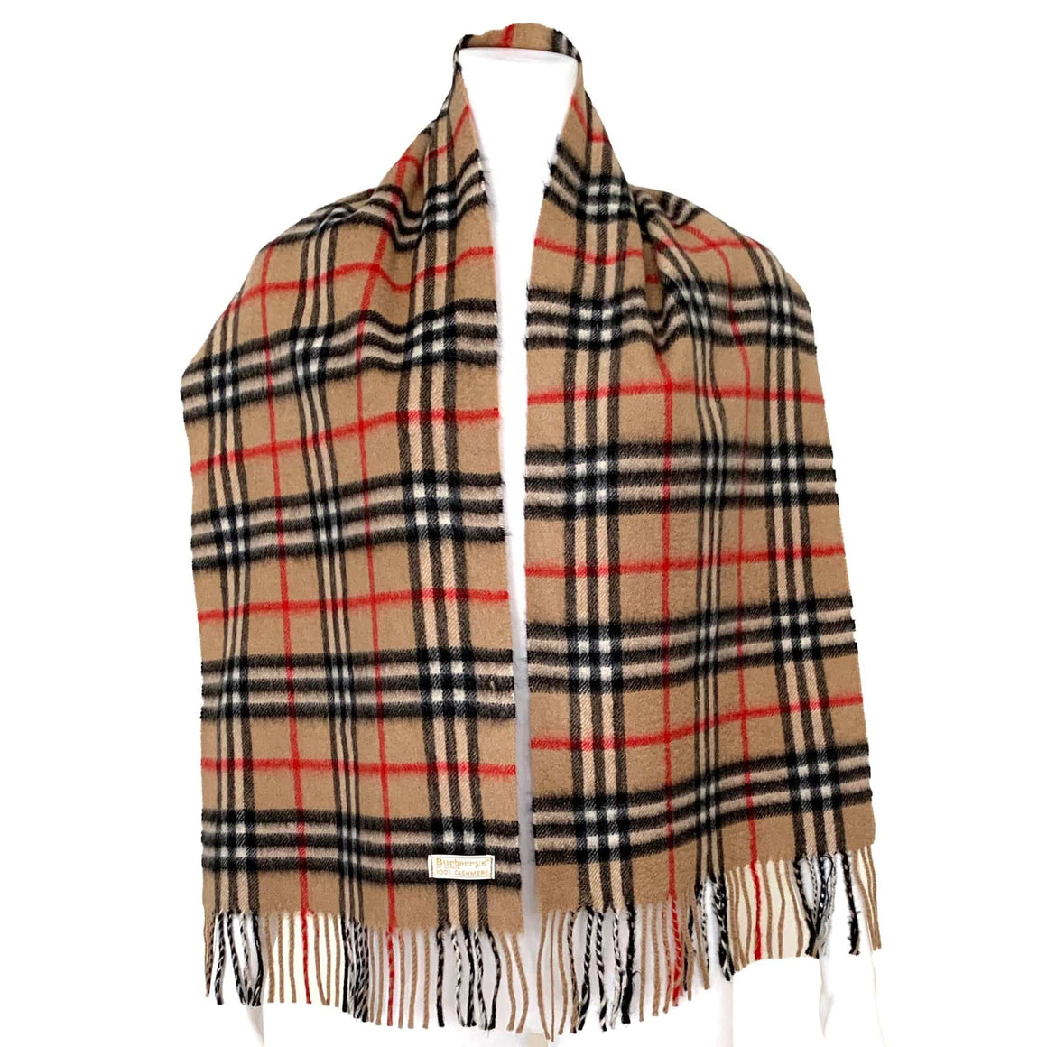 kristina iulo vintage collections Men's Clothing & Accessories Vintage Classic Burberrys London Camel Check Pattern Cashmere Scarf