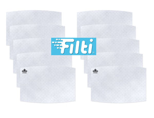 10-pack Filti Filter Inserts: Non-Woven Polypropylene for Cloth Face Masks