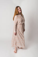 Load image into Gallery viewer, ALEXANDRA DRESS FLOWER PUNCH BEIGE - WE BANDITS