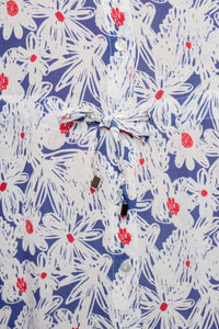 ALEXANDRA DRESS FLOWER DRAWING BLUE - WE BANDITS