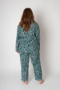 SELMA PYJAMA GINGER GREEN SET - WE BANDITS