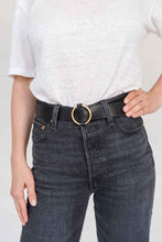 Load image into Gallery viewer, SIA LEATHER BELT BLACK/GOLD - WE BANDITS