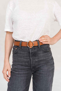 SIA LEATHER BELT CAMEL - WE BANDITS