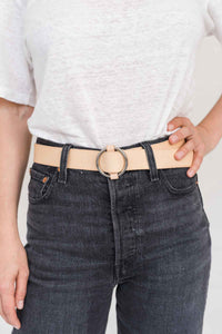 SIA LEATHER BELT BEIGE - WE BANDITS