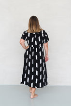 Load image into Gallery viewer, KIMMY DRESS PAINTBRUSH BLACK - WE BANDITS