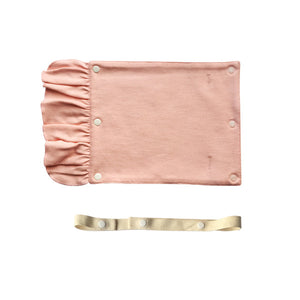 Drool pad_Organic Pink with removable strap