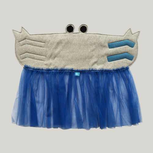 Crab belly band_jean blue tutu