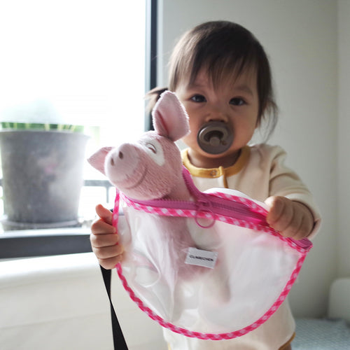 Belt bib_pink plaid_without bib