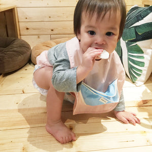 Snack bib_cone pocket_pink