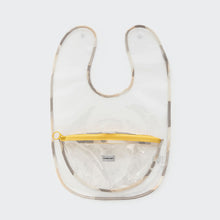 Load image into Gallery viewer, Snack bib_bowl pocket_transparent_yellow