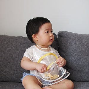 Snack bib_bowl pocket_transparent_yellow