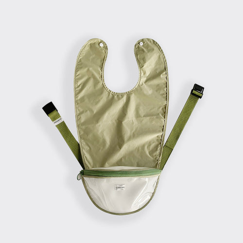 Belt bib_ avocado green with green bib