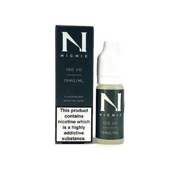NIC NIC 15mg Nicotine Shot (100VG) 10ml - Lovely Liquid