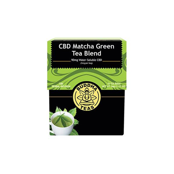 Buddha Teas CBD Matcha Green Tea Bags 5mg - Lovely Liquid