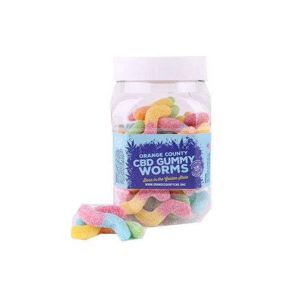 Orange County CBD 10mg Gummy Worms - Large Pack - Lovely Liquid