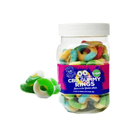 Orange County CBD 10mg Gummy Rings - Large Pack - Lovely Liquid