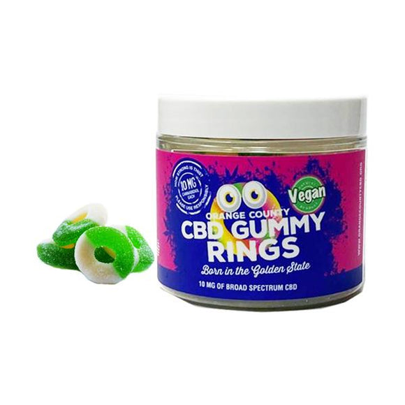 Orange County CBD 10mg Gummy Rings - Small Pack - Lovely Liquid