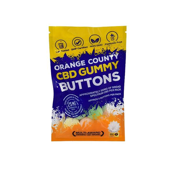 Orange County CBD 200mg Gummy Buttons - Grab Bag