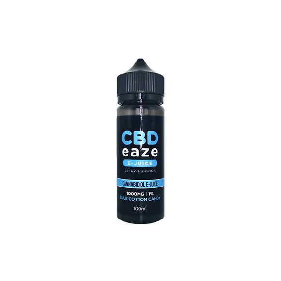 CBD Eaze 1000MG CBD 100ml Shortfill E-Liquid